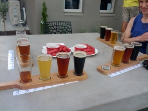 Cherrios and beer tasting at the new Martinborough Brewery