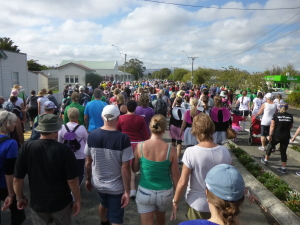 The vast 10km walk group before we all spread out!