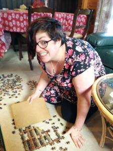 Kate puzzling.