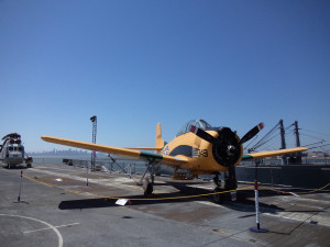A plane on deck
