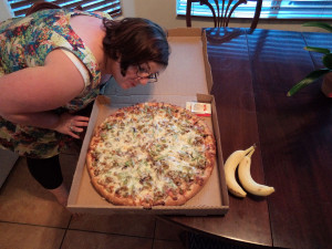 Enormous pizza!