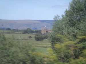 Stokesay Castle from the train