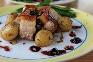 Kate's awesome dinner. Read her van-food-blog - twohobsandagrill!