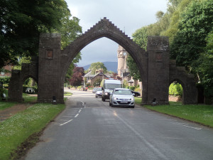 Archway in to Edzell township