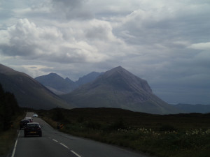 On the A87 south