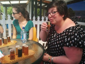 Tasting flight at the Wanaka Beerworks