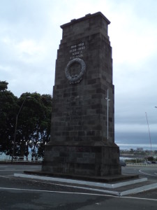 New Plymouth war memorial. FUCKLESS