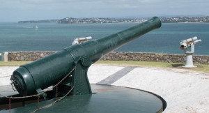 Armstrong disappearing gun