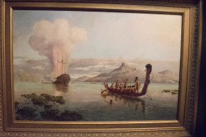 Louis John Steele's The Blowing Up of the Boyd (1889). Took this at Waitangi